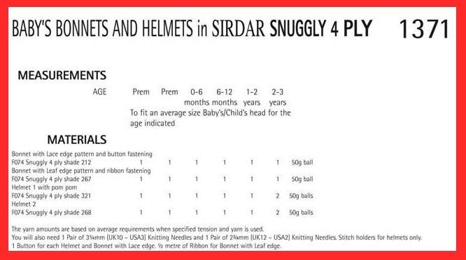 e7f10c6929a8 Sirdar Snuggly 4ply 1371 (digital pattern)