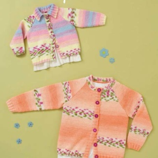 Hayfield Baby Cardigans Baby Changes Knitting Pattern 1319 DK