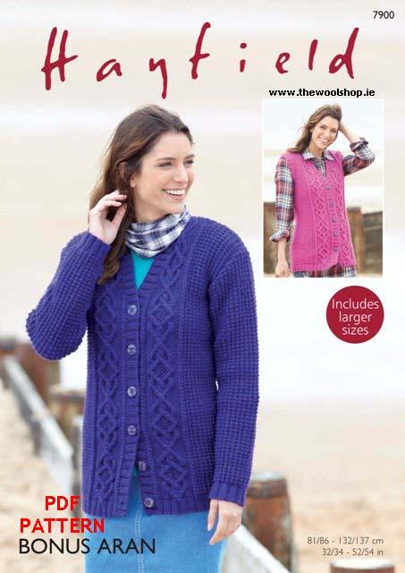 4185a727433723 Hayfield Bonus Aran 7900 (digital pattern)