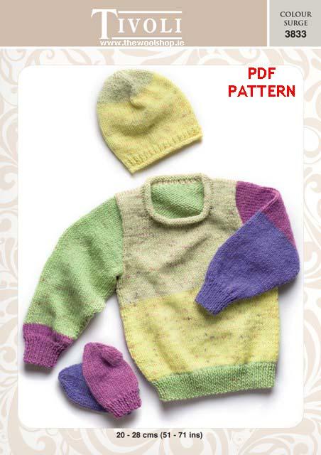 Tivoli Colour Surge 3833 Digital Pattern The Wool Shop Knitting