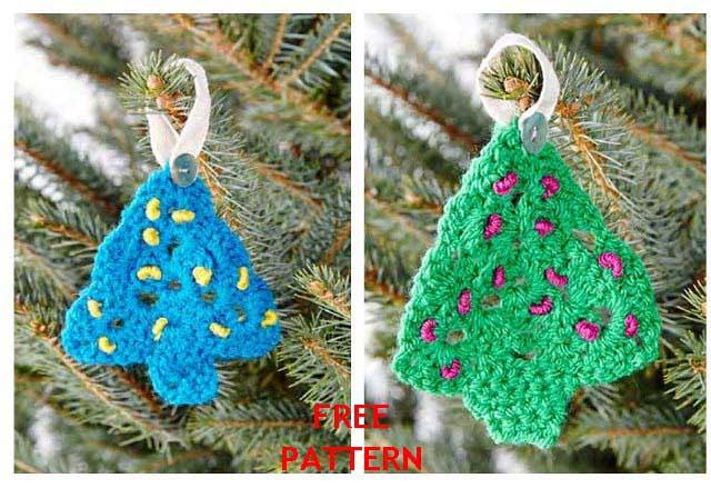 Crochet Christmas Tree Free Digital Pattern The Wool Shop