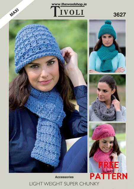 Tivoli Maxi Chunky Free Digital Pattern The Wool Shop Knitting