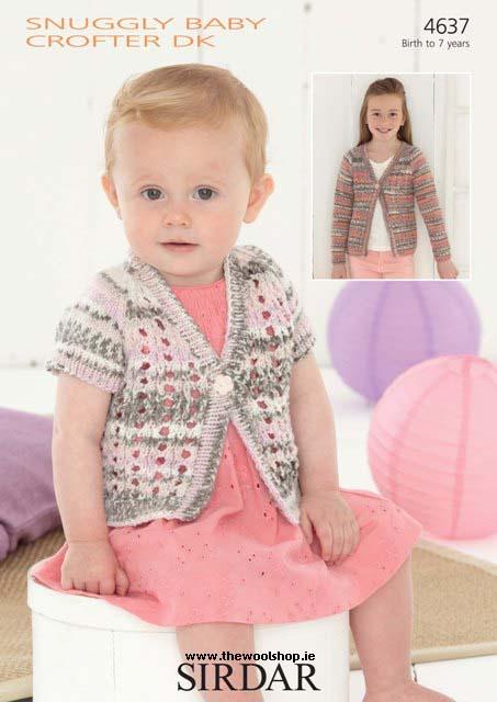 Sirdar Snuggly Crofter Dk Pattern 4637 The Wool Shop Knitting Yarn