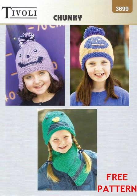 Tivoli Chunky 3699 Free Digital Pattern The Wool Shop Knitting